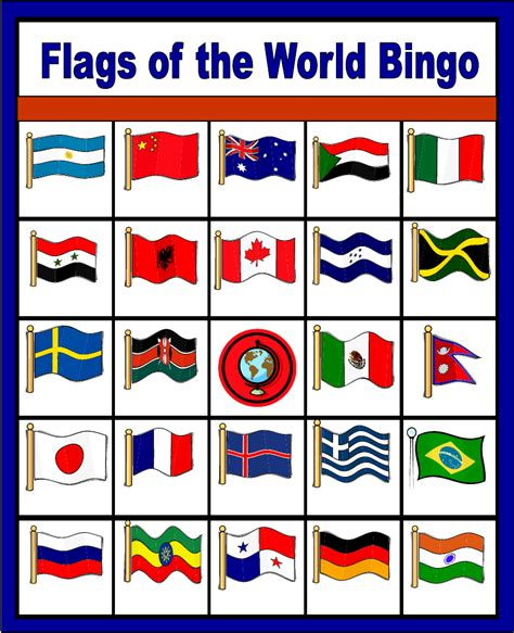 all flags of the world printable flags of the world bingo free printable only enough for