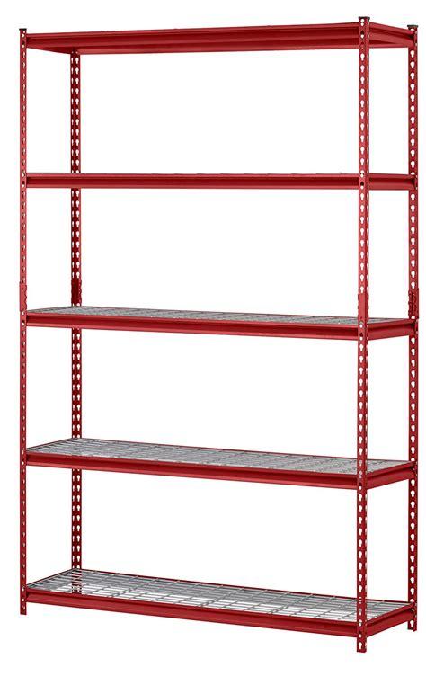 rack 5 shelf steel storage rack 48 quot x 18 quot x
