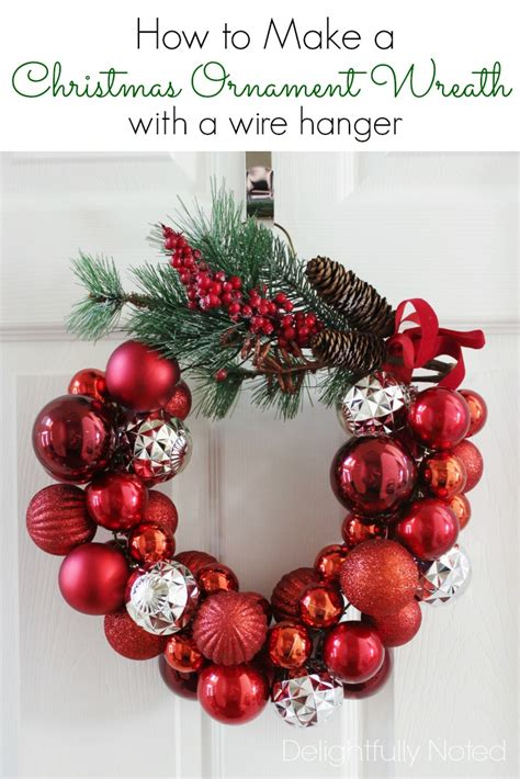 hometalk how to make a christmas ornament wreath with a