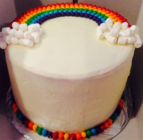 How To Decorate Cake At Home by Rainbow Cake Recipe Handspire