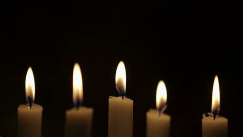 stock candele of candles with filter burning in the