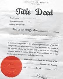 title deed of property
