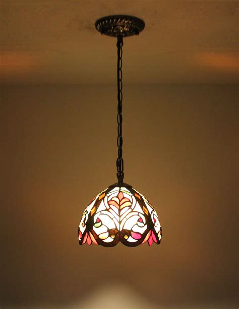 tiffany stained glass hanging light tiffany hanging bar light stained glass island l