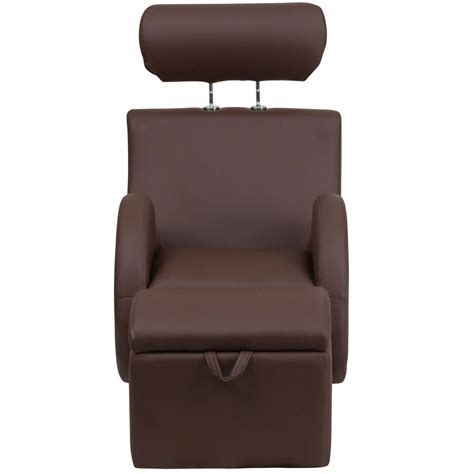 chair with storage ottoman flash furniture hercules series brown vinyl rocking chair