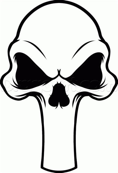 punisher skull tattoo designs how to draw a punisher skull step by step marvel