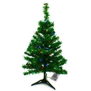 tabletop christmas tree with led lights 2 ft artificial mini tabletop tree green with multi color led light 762931650586 ebay
