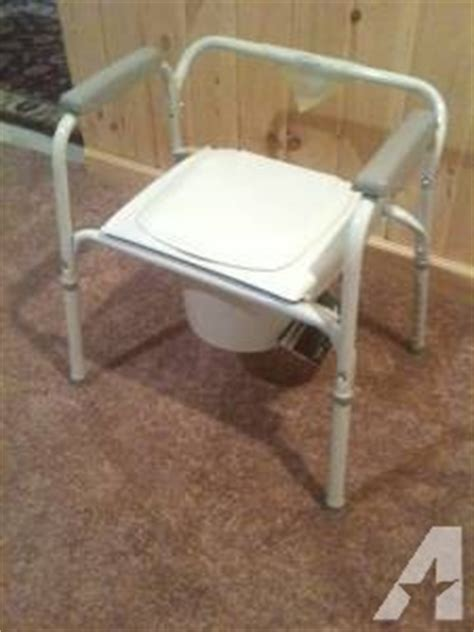how to potty a grown invacare portable toilet potty chair seat w tags