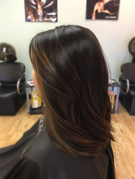 is highlight in style 17 best ideas about dark hair on pinterest dark balayage