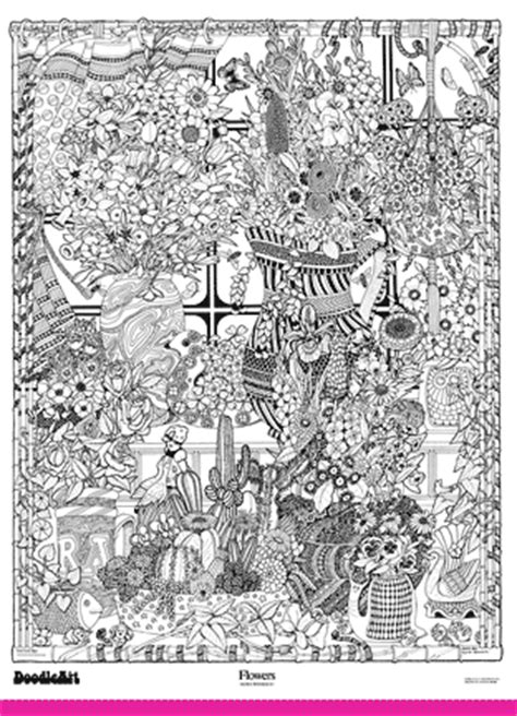 doodle poster doodleart posters flowers