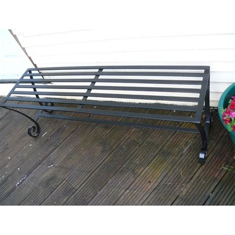 Handmade Wrought Iron - garden bench handmade wrought iron