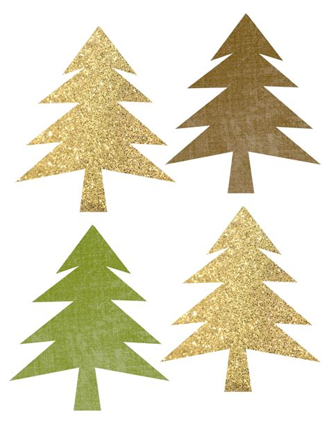 printable christmas tree garland woodland tree garland free printable banner paper trail