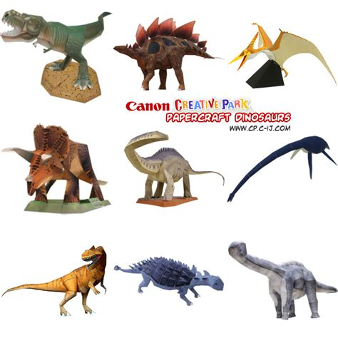 Papercraft Dinosaur - ninjatoes papercraft weblog canon creative park
