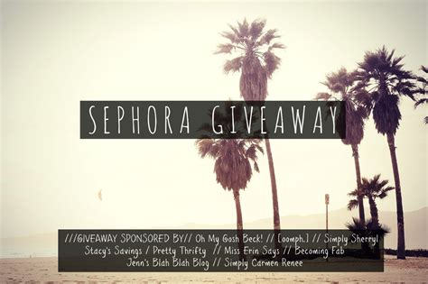 Where Can I Buy A Sephora Gift Card - 300 sephora gift card giveaway