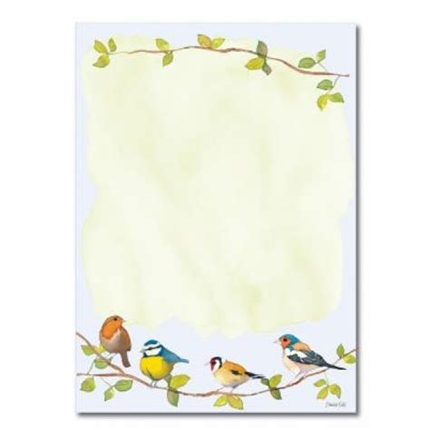 bird writing paper a5 writing notepaper birds