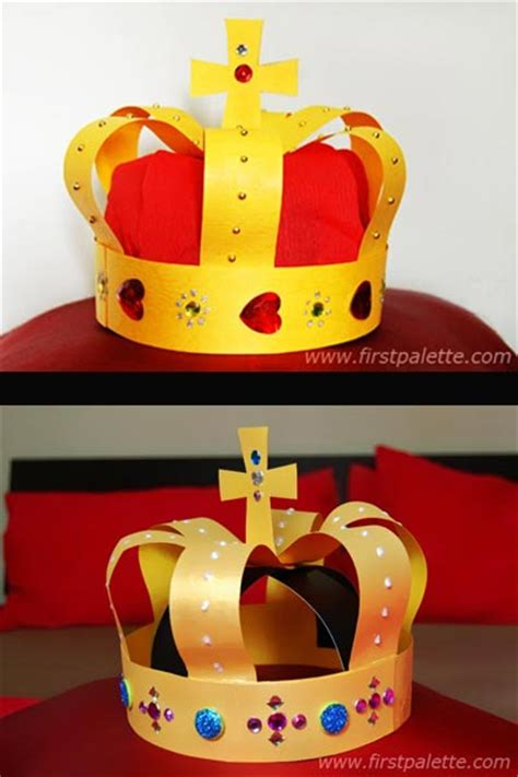 How To Make A Paper King Crown - crown craft crafts firstpalette