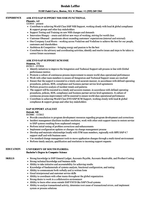 sap support resume resume ideas