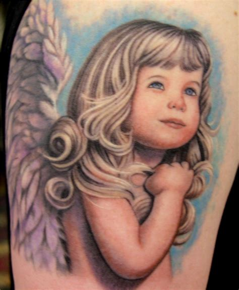 cute baby tattoos baby color ink
