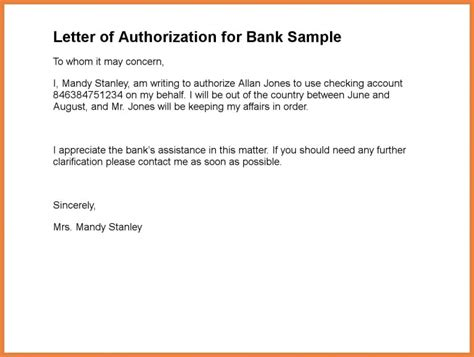 How To Create A Authorization Letter For Nso