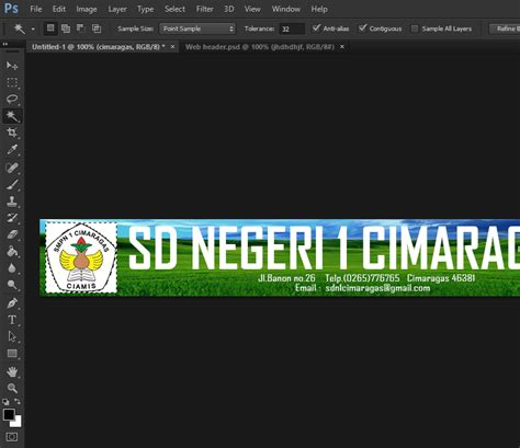 membuat logo sekolah di photoshop rizal amd rvh cara membuat header blog website sekolah