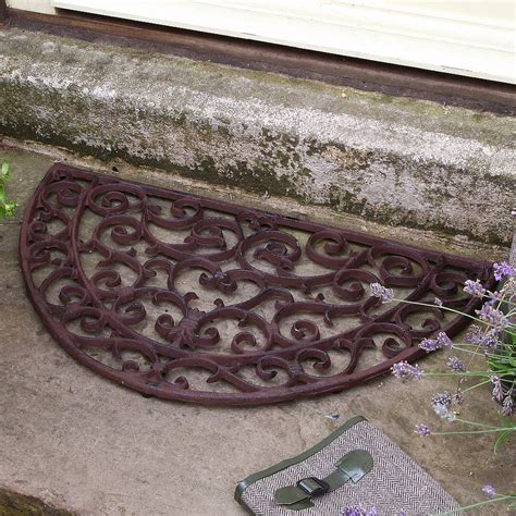 Cast Iron Doormat half moon cast iron door mat by dibor notonthehighstreet