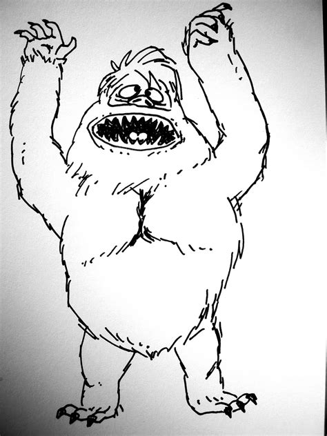 how to draw the rudolph abominable snowman abominable snowman bumble drawing www pixshark images galleries with a bite