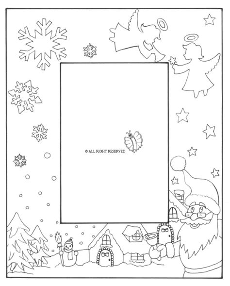 cornici a4 disegni di natale da colorare per bambini con cornici