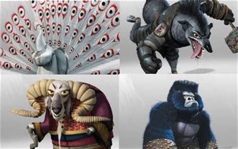 imagenes de los personajes de kung fu panda 3 carteles con los nuevos personajes de kung fu panda 2