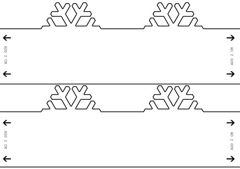 Snowflake Paper Chain Template blogpost snowflake candels