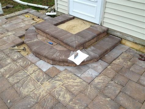 Build Paver Patio Patio Pavers Last Step Is To Build Steps B I M Built It Myself Patio