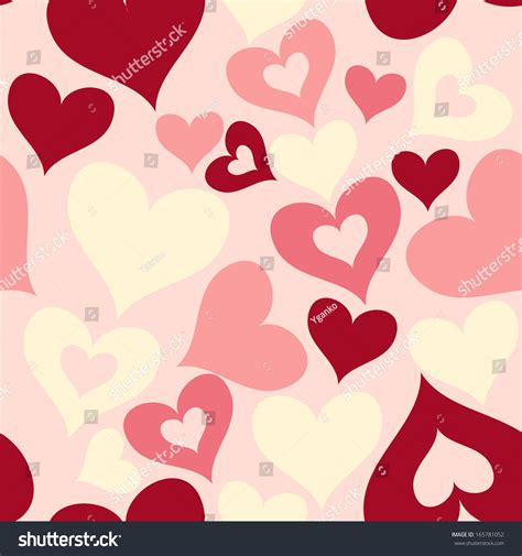 valentine pattern vector valentine seamless hearts pattern stock vector