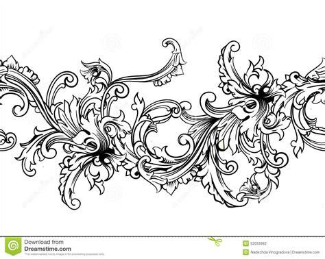 ornamental seamless pattern vector ornamental border frame baroque pattern vector seamless
