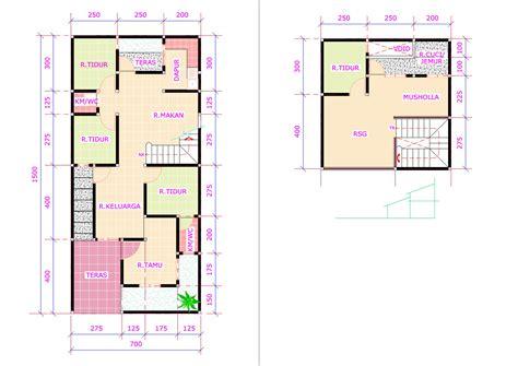 denah rumah 3 kamar tidur simple dan nyaman fimell