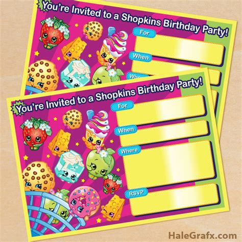 printable birthday cards shopkins free printable shopkins birthday invitation