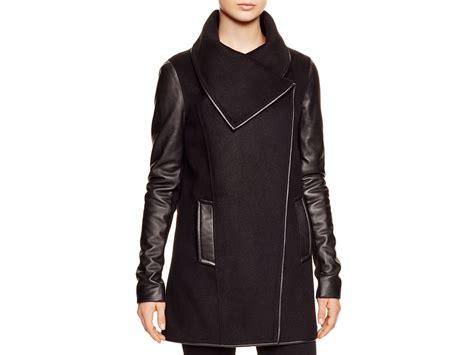 Adel Coat lyst mackage adele coat with leather sleeves bloomingdale s exclusive in black