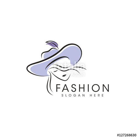 clothes design logo vector quot women hat model fashion logo design vector quot fichier