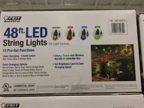 feit electric string lights costco led string lights outdoor costco led light outdoor
