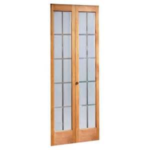 pinecroft colonial glass wood universal reversible interior bi fold door 873730 the home depot