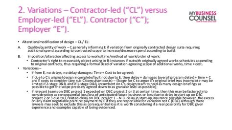 design and build contract law variations in design and build contract design build