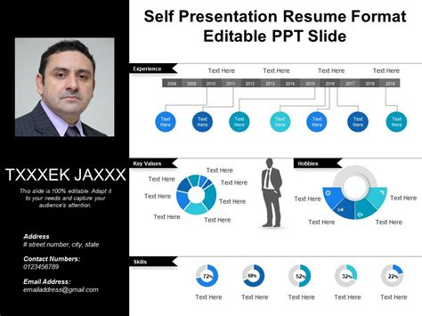 Self Presentation Resume Format Editable Ppt Slide Powerpoint Slide Template Presentation Self Presentation Template