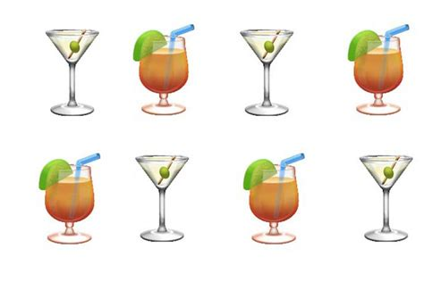 cocktail emoji why use words when you can order drinks with emojis eater