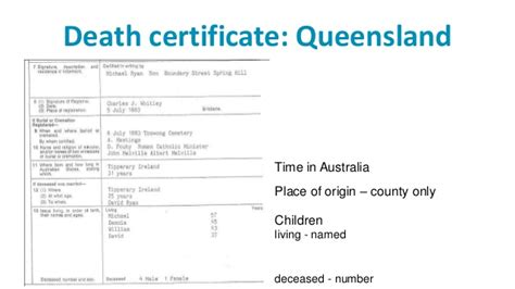 Birth Records Queensland Tracking Immigrant Ancestors Presented At State Library Of Queensla