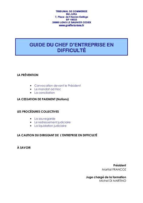 Credit Formation Chef Entreprise 2013 guide du chef d entreprise en difficult 233