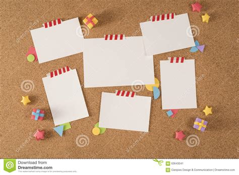 notice board design powerpoint paper note office board cork notice template portfolio