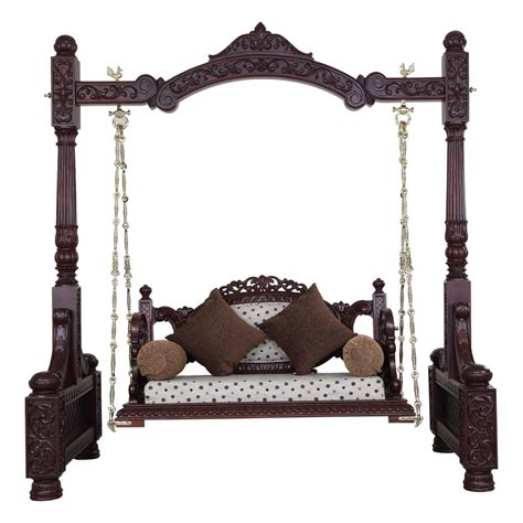 wooden swing chair indoor beautiful carved walnut indian traditional royal swings