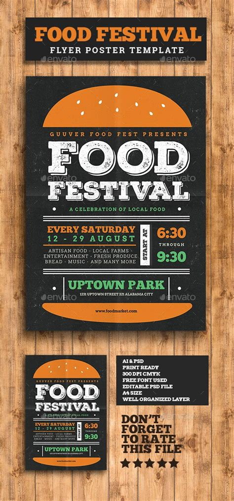 food festival flyer food festival flyer template and food