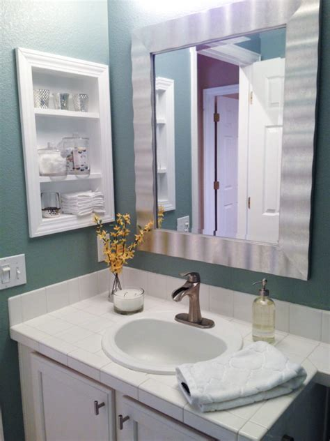 diy recessed medicine cabinet furniture white bathroom vanity set design feat diy