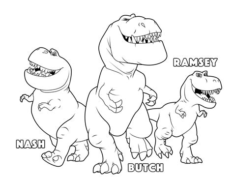 the good dinosaur butch ramsey nash coloring pages kids