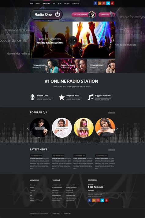 wordpress radio station theme gridgum