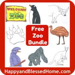 free printables zoo animals are here happy and blessed home