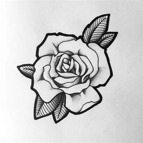how to draw a traditional rose tattoo design black and grey tattoos for
